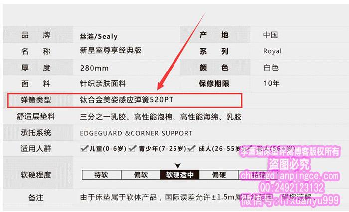 丝涟床垫钛合金弹簧520PT是什么意思?和600PT比起来买哪个好?