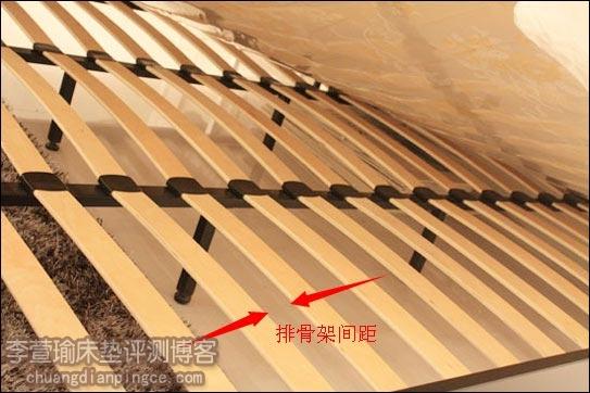 乳胶床垫使用的排骨架床架,排骨架之间的间距多少合适?