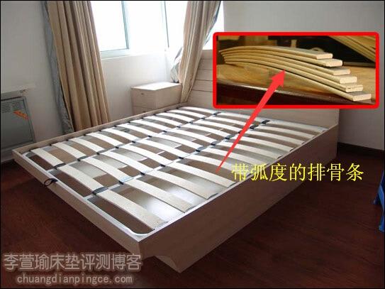 床垫选购疑问——有弧度的排骨架正常吗?对床垫有什么要求?
